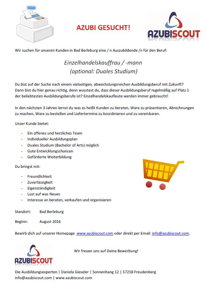 Ausschreibung_Einzelhandelskauffrau